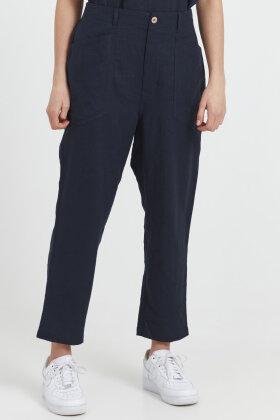 PULZ - Pz- Bianca Pant - Regular Leg - Hørbuks - Mørkeblå