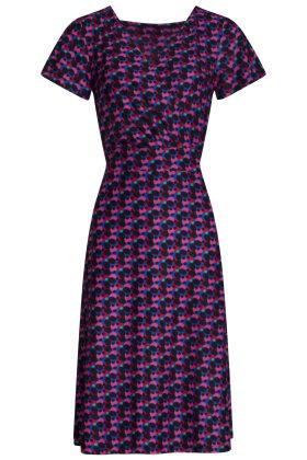 SMASHED LEMON - Prikket Jersey Kjole - Sort