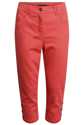 BRANDTEX - Victoria - Curvy Fit - Medium Waist - Straight Leg - Capri - Koral