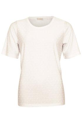 MICHA - T-shirt Med Bomber - Hvid