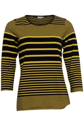 MICHA - Stribet T-shirt - Blokstriber - Mørkeblå