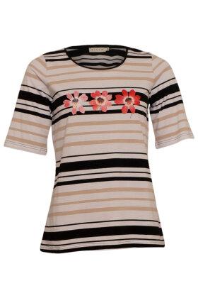 MICHA - Stribet T-shirt - Blokstriber - Sort