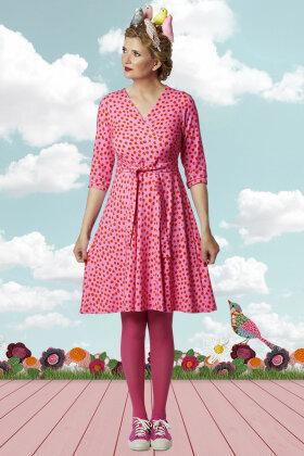 DU MILDE - DuMarleys Pinkdotted - Kjole - Pink
