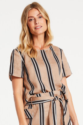 GERRY WEBER - Casual Hør Bluse - Sort