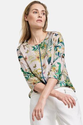 GERRY WEBER - Eksotisk Print Bluse - Off White