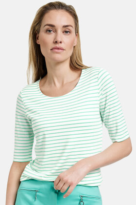 GERRY WEBER - Stribet T-shirt - Mint