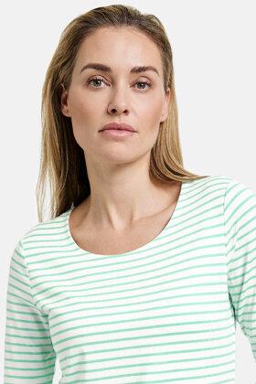 GERRY WEBER - Stribet T-shirt - Mint