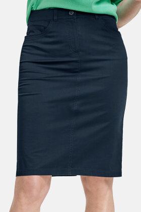 GERRY WEBER - Nederdel - Sommer Kvalitet - Stræk - mørkeblå
