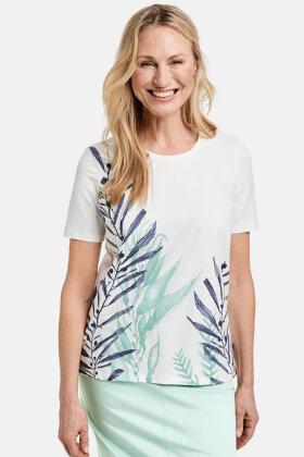 GERRY WEBER - Print T-shirt - Økologisk - Off White