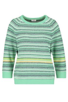 GERRY WEBER - Stribet Jumper - Pullover - Mint