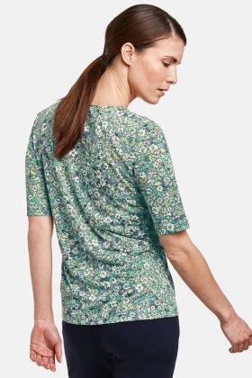 GERRY WEBER - Blomstret Burnout T-shirt - Mint