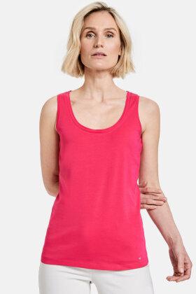GERRY WEBER - Høj Kvalitets Top - Brede Stropper - Pink