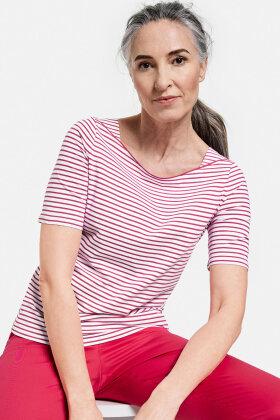 GERRY WEBER - Stribet T-shirt - Pink