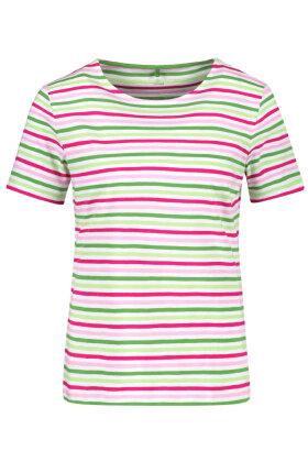 GERRY WEBER - Stribet T-shirt - Grøn