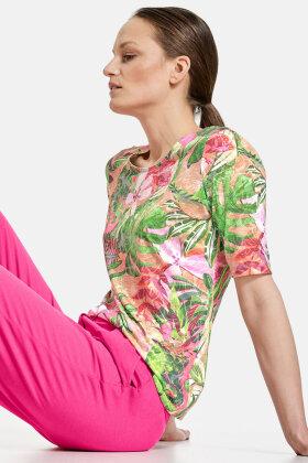 GERRY WEBER - Jungle Print T-shirt - Grøn og Pink