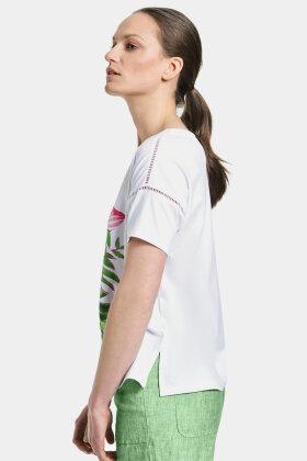 GERRY WEBER - Løs T-shirt - Multiprint - Hvid