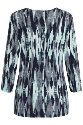 BRANDTEX - 3/4 Ærmet T-shirt - Print - Turkis