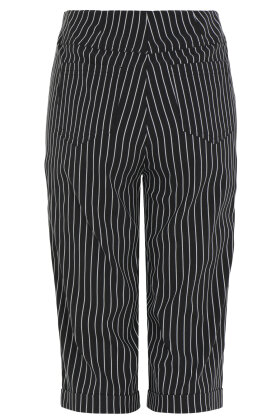 ROBELL - Bella 05 - Shorts - Slim Fit - Nålestribet - Sort
