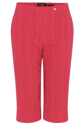 ROBELL - Bella 05 - Shorts - Slim Fit - Nålestribet - Pink
