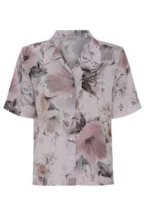 BASSINI - Skjortebluse - Løst Snit - Rosa
