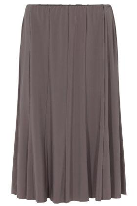 BASSINI - Ensfarvet Nederdel - Paneler - Mørk Sand