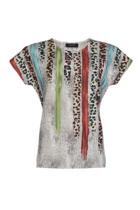 BASSINI - Multifarvet T-shirt - Grå