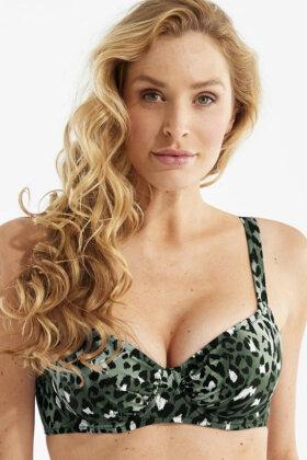 DAMELLA - Sophia Leopard Bikini Bh - Oliven