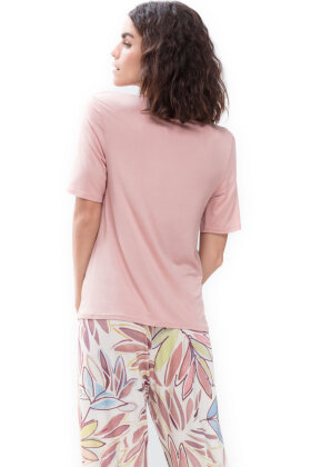 MEY - Alena Pyjamas Overdel - T-shirt - Laksefarvet