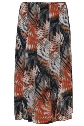BASSINI - Print Nederdel - Paneler - Rust
