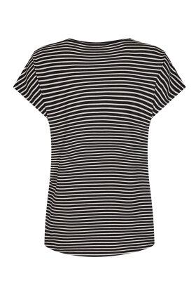SOYACONCEPT - Sc-Paya 1 - Stribet Ærmeløs T-shirt - Sort