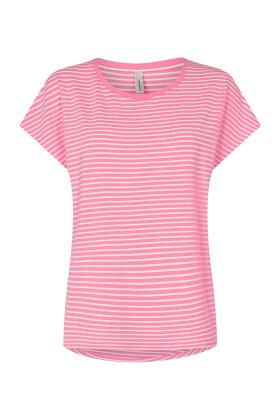 SOYACONCEPT - Sc-Paya 1 - Stribet Ærmeløs T-shirt - Pink