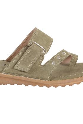 RELAXSHOE - Tå-sandaler Skind - Army Grønne