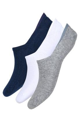 DECOY - Footlets - Fusling - Korte Sokker - 3 pak - Ensfarvet
