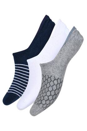 DECOY - Footlets - Fusling - Korte Sokker - 3 pak - Mønstret