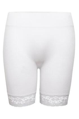 DECOY - Korte Blonde Leggings - Seamless Hotpants - Hvid