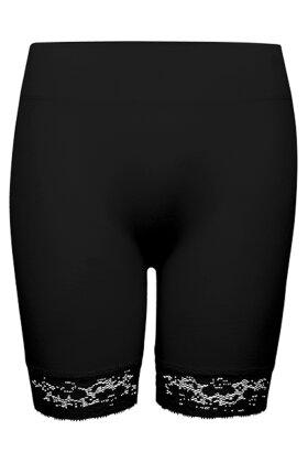 DECOY - Korte Blonde Leggings - Seamless Hotpants - Sort
