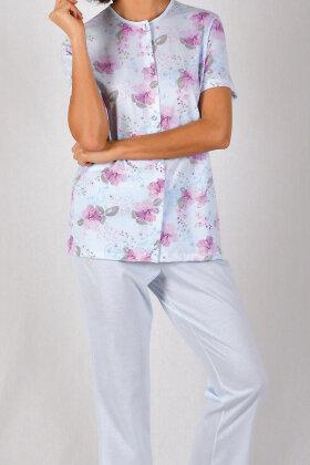 NATURANA - Pyjamas Flora Print - To Delt - Lyseblå