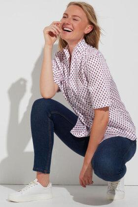 ETERNA - Kortærmet Skjorte - Prikket - Rosa