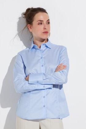 ETERNA - Skjorte - Classic Cover Shirt - Lyseblå