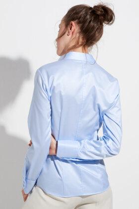 ETERNA - Skjorte - Classic Cover Shirt - Slim Fit - Lysebå