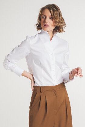 ETERNA - Jaquard Vævet Skjorte - Hvid