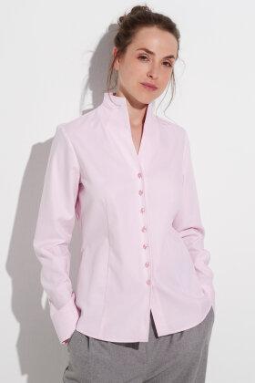 ETERNA - Jaquard Vævet Skjorte - Rosa