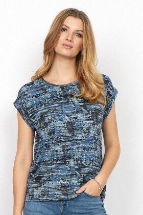 SOYACONCEPT - Sc-Galina 9 - DropDown T-shirt - Blå