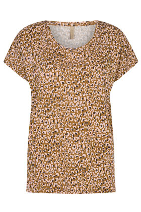 SOYACONCEPT - Sc-Felicity aop 324 - Print T-shirt - Camel