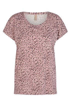 SOYACONCEPT - Sc-Felicity aop 324 - Print T-shirt - Gammel Rosa