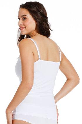 FEMILET - Spaghetti Top - Basic Lace Cotton - Hvid