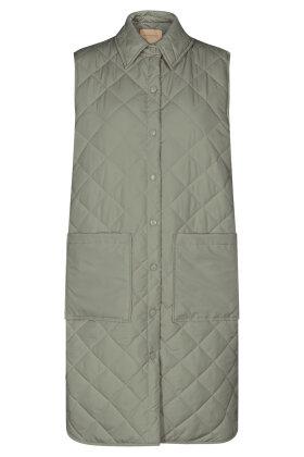 SOYACONCEPT - Sc-Randi 3 - Quiltet Lang Vest - Khaki
