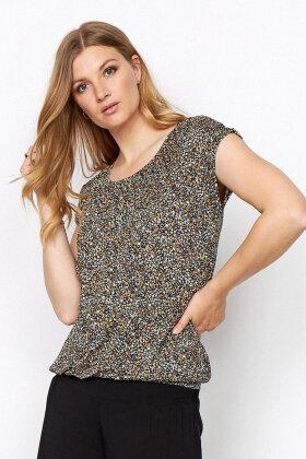 SOYACONCEPT - Sc-Marica aop 150 - Print T-shirt - Lyocell - Camel