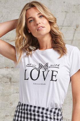 SMASHED LEMON - Print T-shirt - Hvid