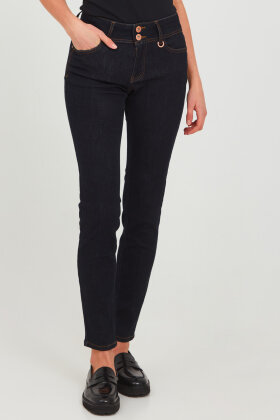 PULZ - Pz-Suzy - Curved Fit & Skinny Leg - Mørk Denim